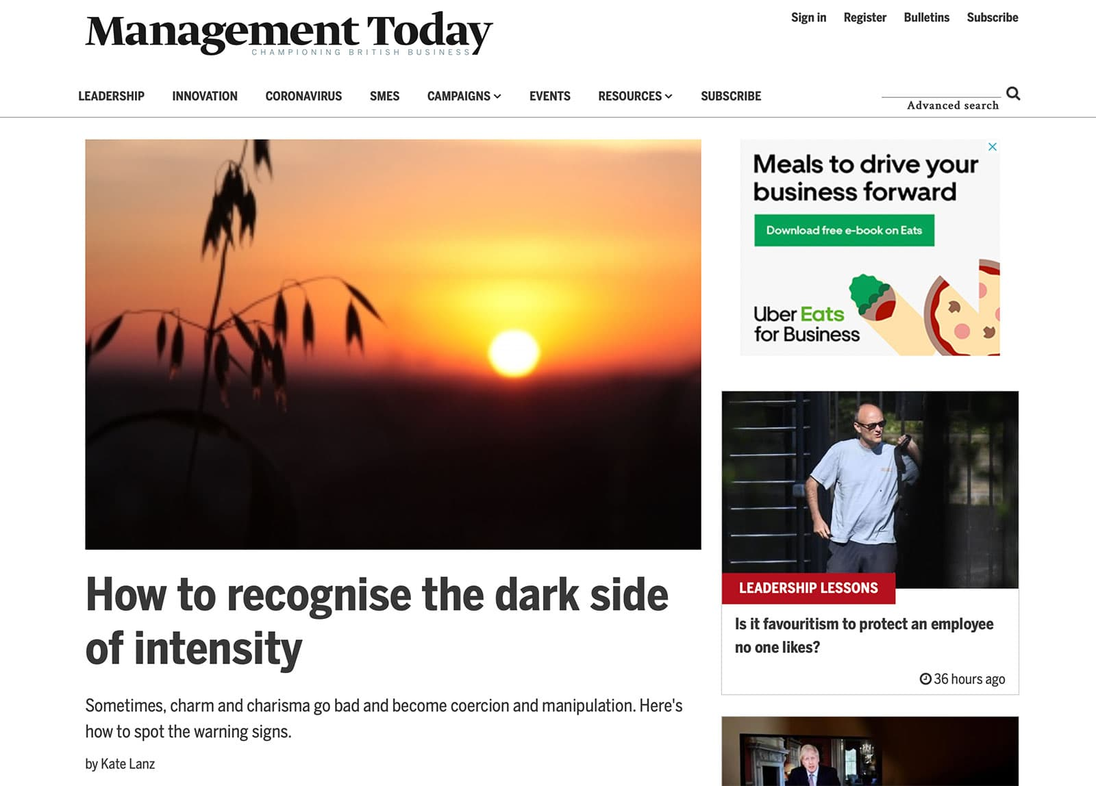 Management Today article by Kate Lanz