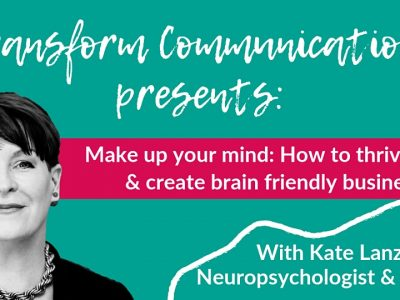Make up your mind event with Kate Lanz